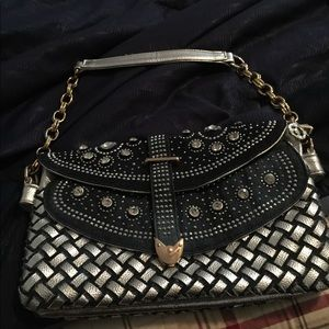 Handbags - Clutch wide jeans and silver